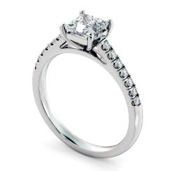 HRPSD811 Princess Shoulder Diamond Ring - white