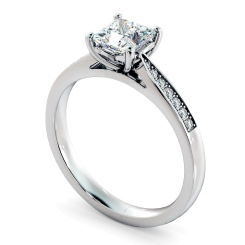 HRPSD812 Princess Shoulder Diamond Ring - white