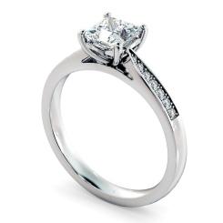 HRPSD812 Princess Shoulder Diamond Ring - white