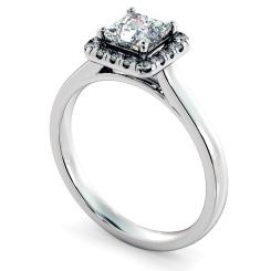 HRPSD824 Princess Halo Diamond Ring - white