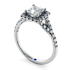 HRPSD827 Princess Halo Diamond Ring - white