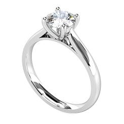 HRR1571 1.00CT SI2/J ROUND DIAMOND SOLITAIRE RING - white