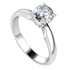 HRR1572 1.09CT VVS1/I ROUND DIAMOND SOLITAIRE RING - white