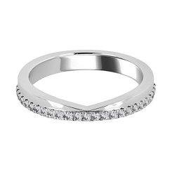 HRR1574 0.20CT VS/EF ROUND DIAMOND SHAPED RING - white