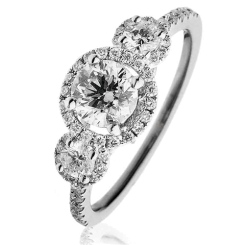 HRR1614 1.30CT VS/FG ROUND DIAMOND DESIGNER RING - white