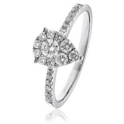 HRR1615 0.50CT VS/FG ROUND DIAMOND DESIGNER RING - white
