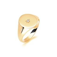 HRR1625 9CT YELLOW GOLD, GENTS SIGNET RING, SIZE U - yellow