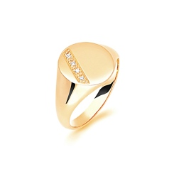 HRR1626 9CT YELLOW GOLD, GENTS SIGNET RING, SIZE V - yellow