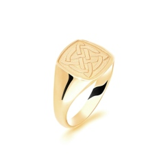 HRR1630 9CT YELLOW GOLD, GENTS SIGNET RING, SIZE V - yellow