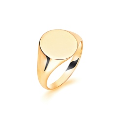 HRR1631 9CT YELLOW GOLD, GENTS SIGNET RING, SIZE W - yellow