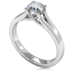 HRR1635 0.50CT VS1/G ROUND DIAMOND SOLITAIRE RING - white_2