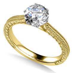 HRR1640 0.30CT SI2/G ROUND DIAMOND VINTAGE RING - yellow
