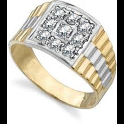 HRR1766 0.50CT VS/EF MENS DIAMOND RING - yellow