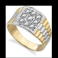 HRR1767 0.50CT VS/EF MENS DIAMOND RING - yellow