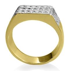 HRR1768 1.06CT VS/EF MENS DIAMOND RING - yellow