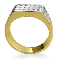 HRR1769 1.06CT VS/EF MENS DIAMOND RING - yellow