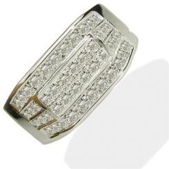 HRR1777 1.00CT VS/EF MENS DIAMOND RING - white_2