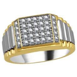 HRR1781 0.75CT VS/EF MENS DIAMOND RING - yellow