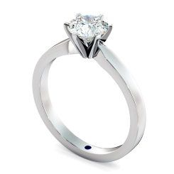 HRR792 Round cut 6 Modern Claws Diamond Engagement Ring - white