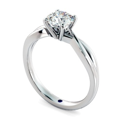 HRR794 Round cut Moden Infinity Diamond Engagement Ring - white