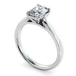 HRRA1143 Radiant Solitaire Diamond Ring - white