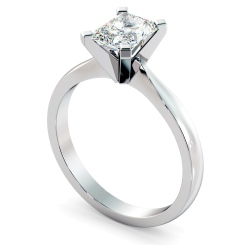HRRA1145 4 Claw Radiant Solitaire Diamond Ring - white