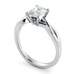 HRRA1149 Radiant Cut Infinity Diamond Engagement Ring - white