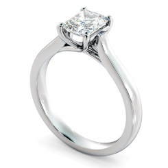 HRRA1151 4 Prong Radiant cut Solitaire Diamond Ring - white