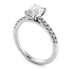 HRRASD1159 Radiant Shoulder Diamond Ring - white