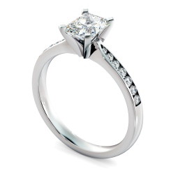 HRRASD1161 Radiant Shoulder Diamond Ring - white