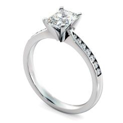 HRRASD1161 Radiant Shoulder Diamond Ring - white