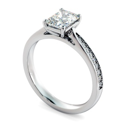 HRRASD1163 Radiant Shoulder Diamond Ring - white