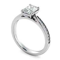 HRRASD1163 Radiant Shoulder Diamond Ring - white