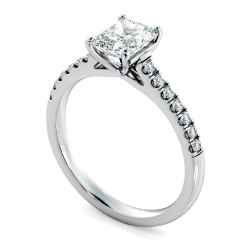HRRASD1165 Radiant Shoulder Diamond Ring - white