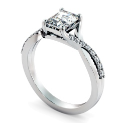 HRRASD1167 Radiant Shoulder Diamond Ring - white