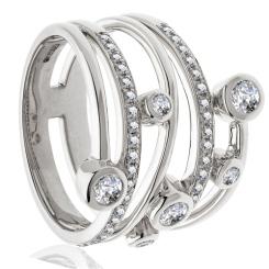 0.65ct VS/EF Round Diamond Bubble Ring - 0.65ct VS/EF Round Diamond Bubble Ring