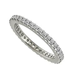 0.52CT VS/EF Elegant Round Diamond Full Eternity Ring - 0.52CT VS/EF Elegant Round Diamond Full Eternity Ring