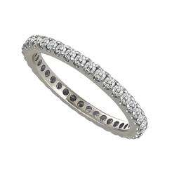 0.75CT SI/FG Elegant Round Diamond Full Eternity Ring - 0.75CT SI/FG Elegant Round Diamond Full Eternity Ring