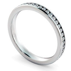 HRRFE715 VOGUE Round cut Full Eternity Ring - 3mm width; Shining Diamonds certificate - white