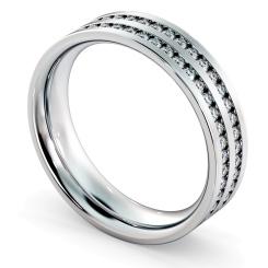 VELA Double Row Round cut Full Eternity Ring - white
