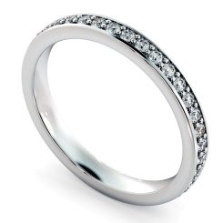 ANTLIA Micro Pave set Full Eternity Ring - white