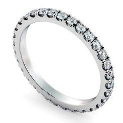 PEGASUS Round cut Full Diamond Eternity Ring - white