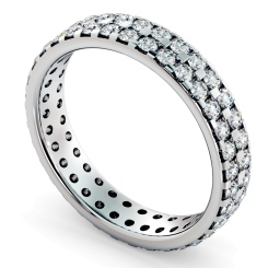 FORNAX Double row Round cut Full Eternity Ring - white