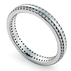 AURORA Double row Round cut Full Eternity Ring - white