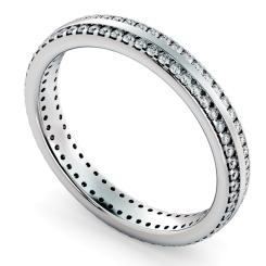 AURORA Double row Round cut Full Eternity Ring - white