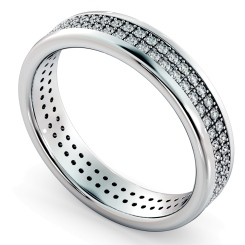 NORMA Double row Round cut Full Eternity Band - white