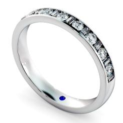 HRRHE1005 Round & Baguette Half Eternity Diamond Ring - white