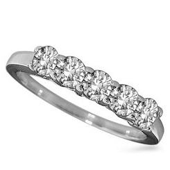 5 STONE ROUND DIAMOND HALF ETERNITY RING - white_2