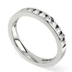 HRRHE233 Round Half Eternity Diamond Ring 0.68ct D-E / I1 - HRRHE233 Round Half Eternity Diamond Ring 0.68ct D-E / I1