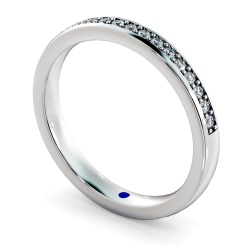 APUS Micro Pave set Half Eternity Ring - white